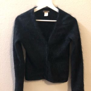 J. Crew Angora Rabbit button up sweater XS